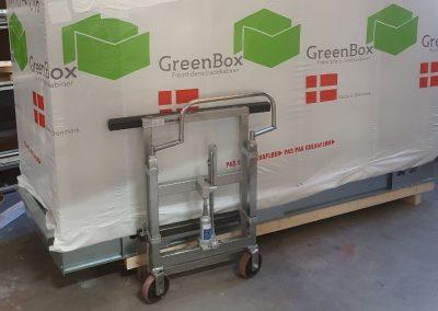 Montering af lette badekabiner, Green Box